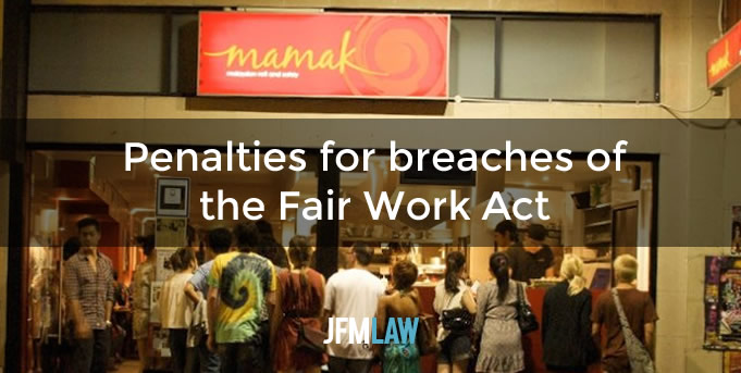 Penalties ordered against Employer and Directors personally for breaches of the Fair Work Act