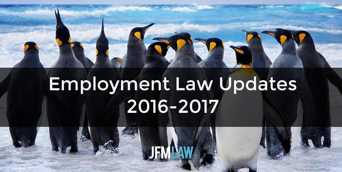 Employment Law Updates 2016-2017