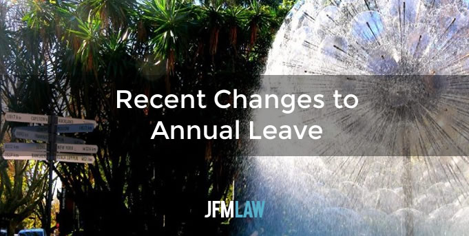 Recent Changes to Annual Leave
