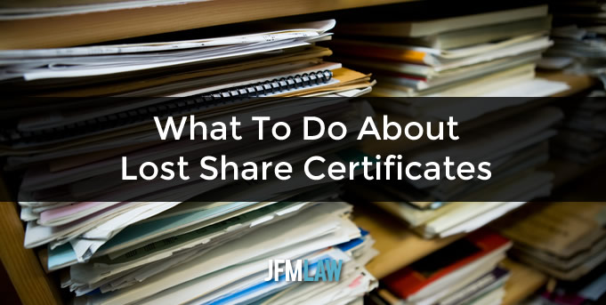 What To Do About Lost Share Certificates