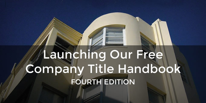 We are launching our Free Company Title Handbook, 4th Edition