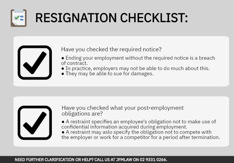 Resignation checklist